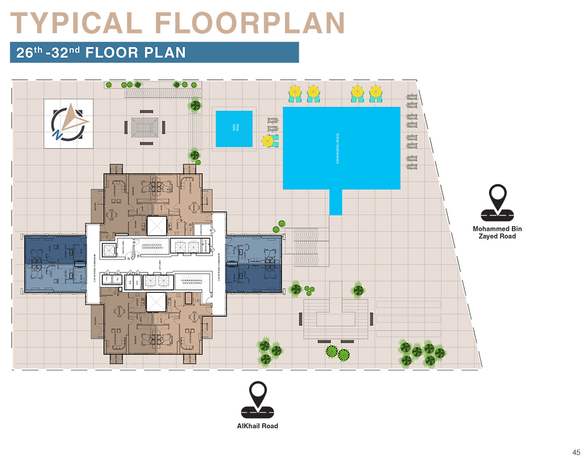 Typical Floor Plan   26th To 32nd Floor